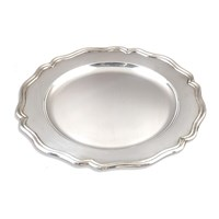 Silverplate Chippendale Service Plate