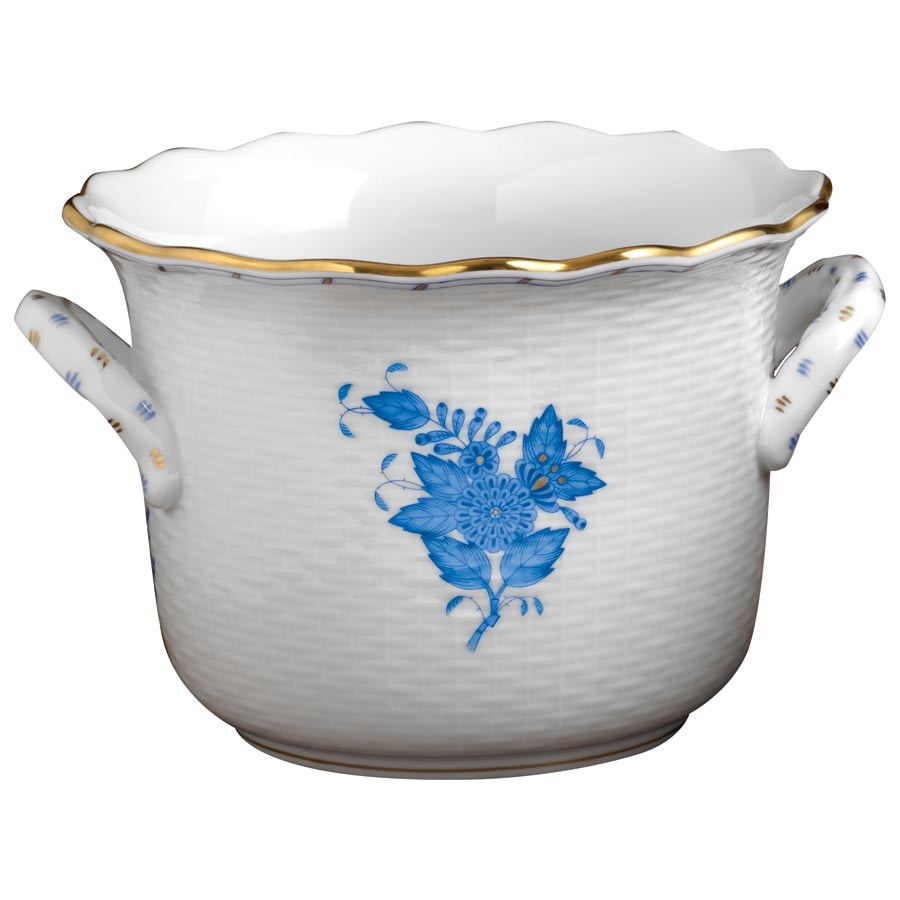Herend Chinese Bouquet Large Cachepot Blue