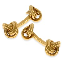 18k Gold Knot Cufflinks