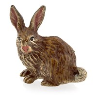 Austrian Bronze Simple Rabbit Figurine