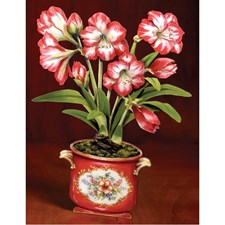 Trompe l'oeil Decorative Wooden Amaryllis