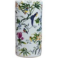 Flower and Bird Porcelain Umbrella Stand