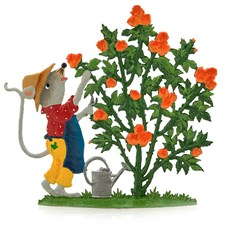 Pewter Gardening Mouse