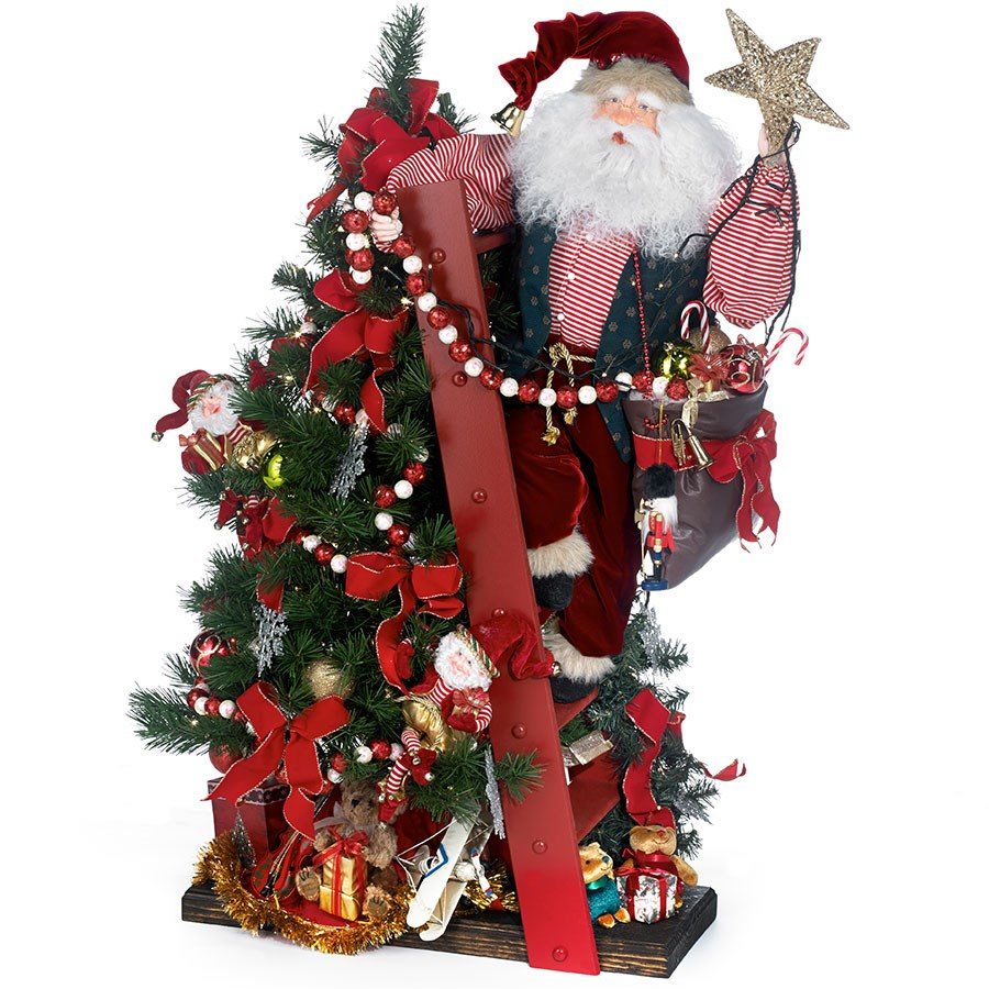 Decorations For A Halloween Party: Animated Santa On Ladder