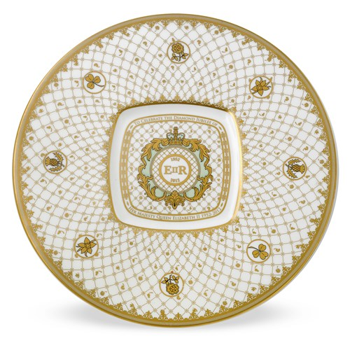 Halcyon Days Royal Cypher Plate