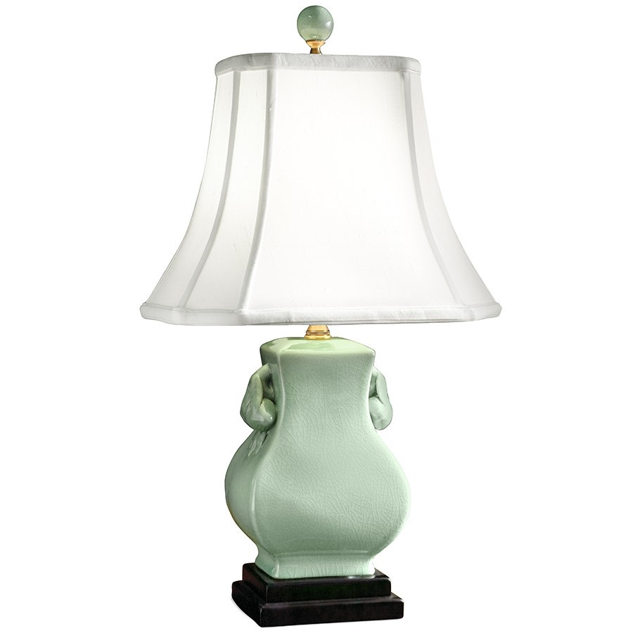 Genial CELADON PORCELAIN TABLE LAMP