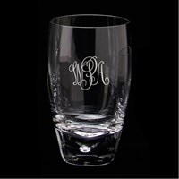 Pickard Aspen Signature Highball with Script Monogram