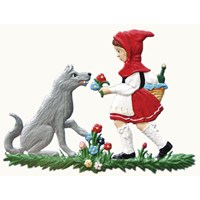 Pewter Little Red Riding Hood