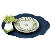 Oval Scalloped Linen Mats