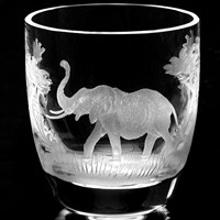 Queen Lace Liqueur / Shot Glass Kenyan Wildlife