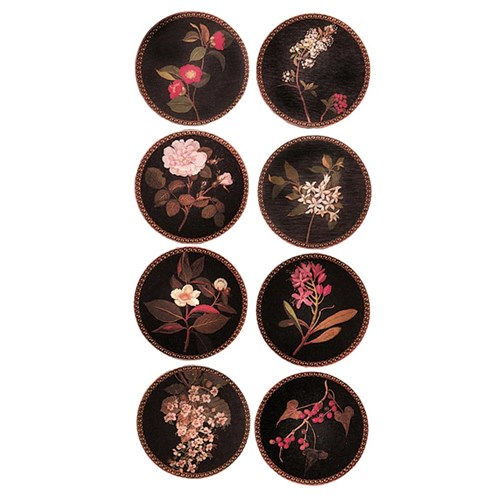 Delany Flower Round Mat & Coasters