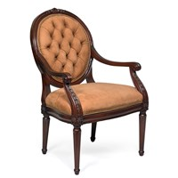 Blair Tufted Chair, Nabuk Camel