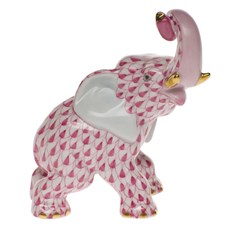 Herend Elephant with Curled Trunk Figurine
