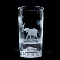 Queen Lace Fluted Tumbler Kenyan Wildlife