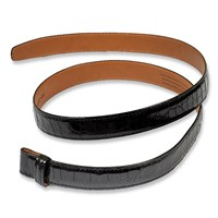Black Alligator Belt Strap