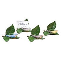 Bird on Leaf Menu Card Holder