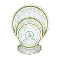 Haviland Vieux Paris Green Place Setting