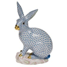 Herend Large Rabbit on Base