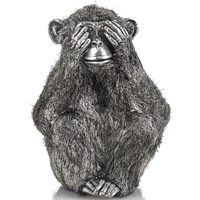 See No Evil Sterling Silver Monkey