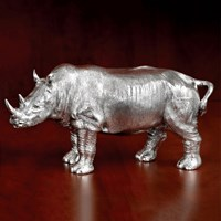 Sterling Silver Rhino Large