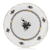 Herend Chinese Bouquet Porcelain China, Black