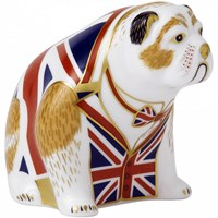 Union Jack Bulldog Paperweight