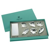 Silverplated Assorted Place Card Holders, Set of 6