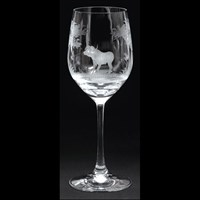Queen Lace Vino Grande Wine Glass Kenyan Wildlife