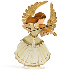 Pewter Angel Serenade Playing Violin Wing Up