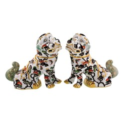 Herend Pair of Foo Dogs