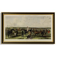 Fores Racing Saddling Horse Print