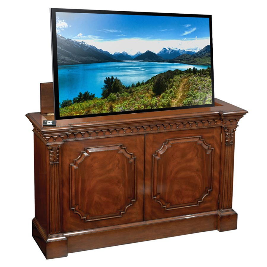 mahogany television consoles cabinets bookcases. Black Bedroom Furniture Sets. Home Design Ideas