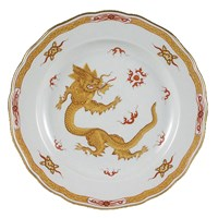 Meissen Ming Dragon China, Yellow Border