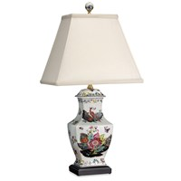 Tobacco Leaf Vase Lamp