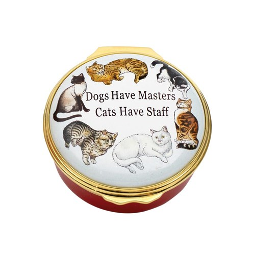 Halcyon Days Dogs Have Masters Enamel Box