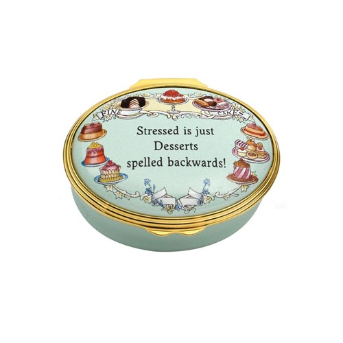 Stressed is Just Desserts Enamel Box