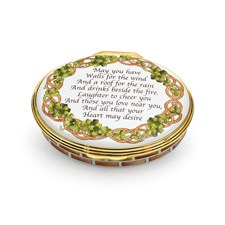"Halcyon Days ""An Irish Prayer"" Enamel Box"