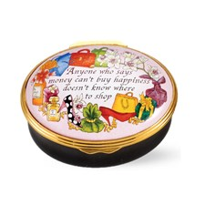 "Halcyon Days ""Anyone Who Says Money"" Enamel Box"