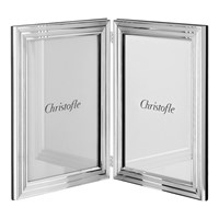 Christofle Filets Silverplated Double Frame