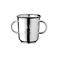 Charlie Bear Silverplated Two-Handled Baby Cup