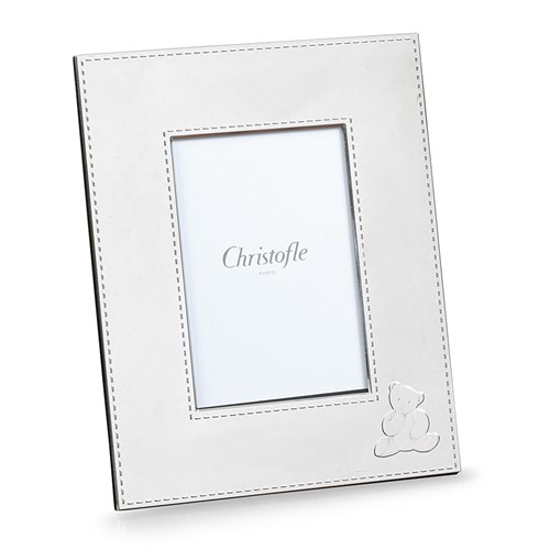 Christofle Charlie Bear Silverplated Picture Frame