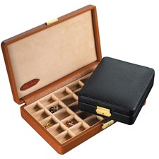 Leather Cufflink Boxes, Large