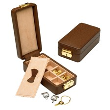 Leather Cufflink Boxes, Travel Size