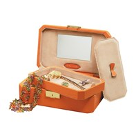 Jewelry Box with Tray & Mirror