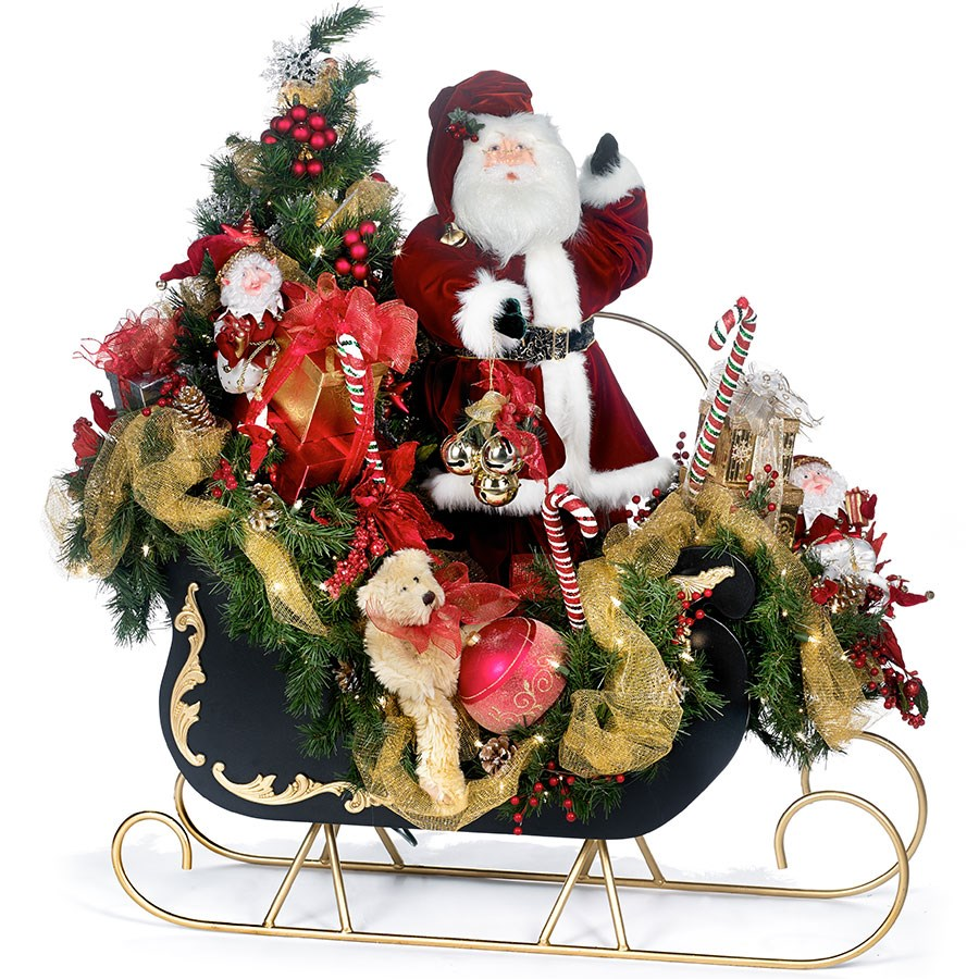 Animated Santa with Sleigh | Decorations | Christmas Gifts ...