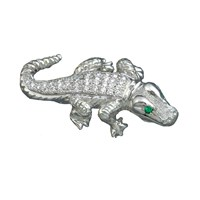 Platinum Alligator Pin