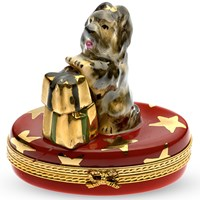 Yorkie with Gifts Limoges Box