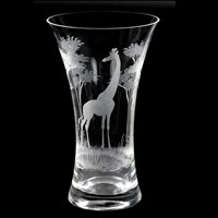 Queen Lace Vase with Giraffe