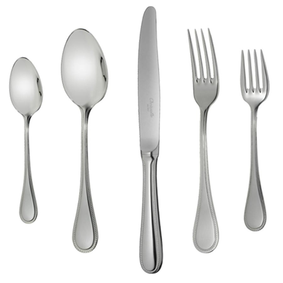... Stainless Steel Dinnerware. Hover to zoom  sc 1 st  Scully \u0026 Scully & Christofle Perles Stainless Steel Dinnerware   Stainless Flatware ...