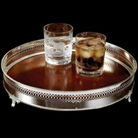 Wood & Silver Ring Gallery Tray